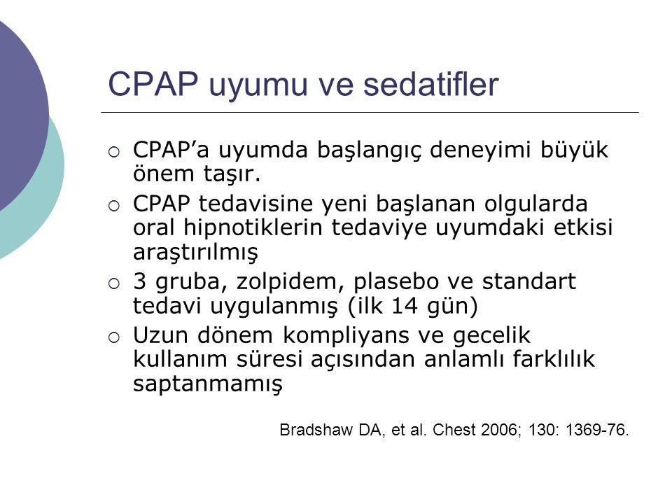 CPAP uyumu ve sedatifler  CPAP'a uyumda başlangıç deneyimi büyük önem taşır.