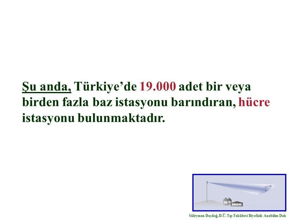 Şu anda, Türkiye'de 19.000 adet bir veya birden fazla baz istasyonu barındıran, hücre istasyonu bulunmaktadır.