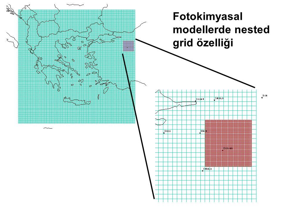 Fotokimyasal modellerde nested grid özelliği