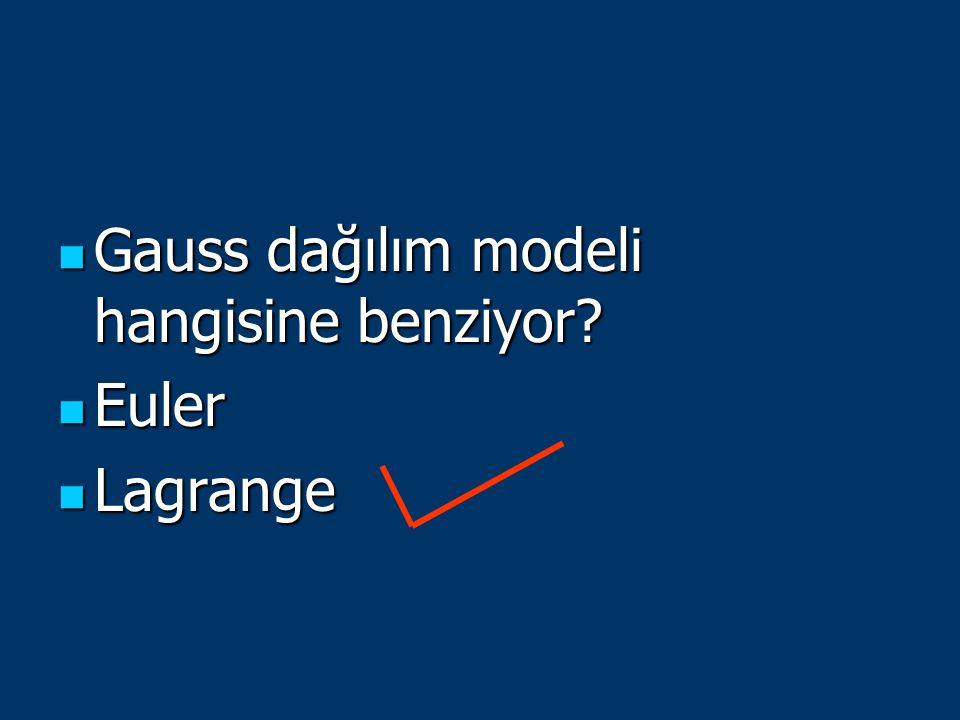 Gauss dağılım modeli hangisine benziyor? Gauss dağılım modeli hangisine benziyor? Euler Euler Lagrange Lagrange