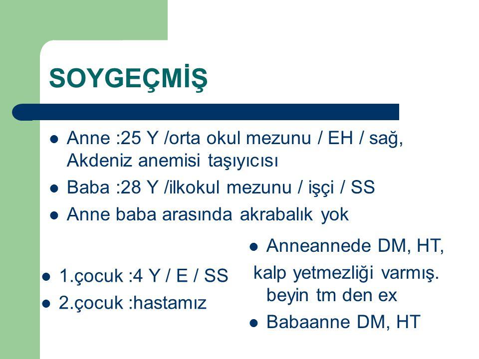 Alikahya DH WBC: 20.3 LYM:2.78 HGB:7.90 HCT:24.3 PLT:500 CRP:177.88 mg/dl Glu :113 Bun.13 AST :48 ALT :27 Elektrolitler normal sınırlarda 5 günden fazla süren ateş, konjunktivit, ağızda ragatlar,perikardial efüzyon mevcut.