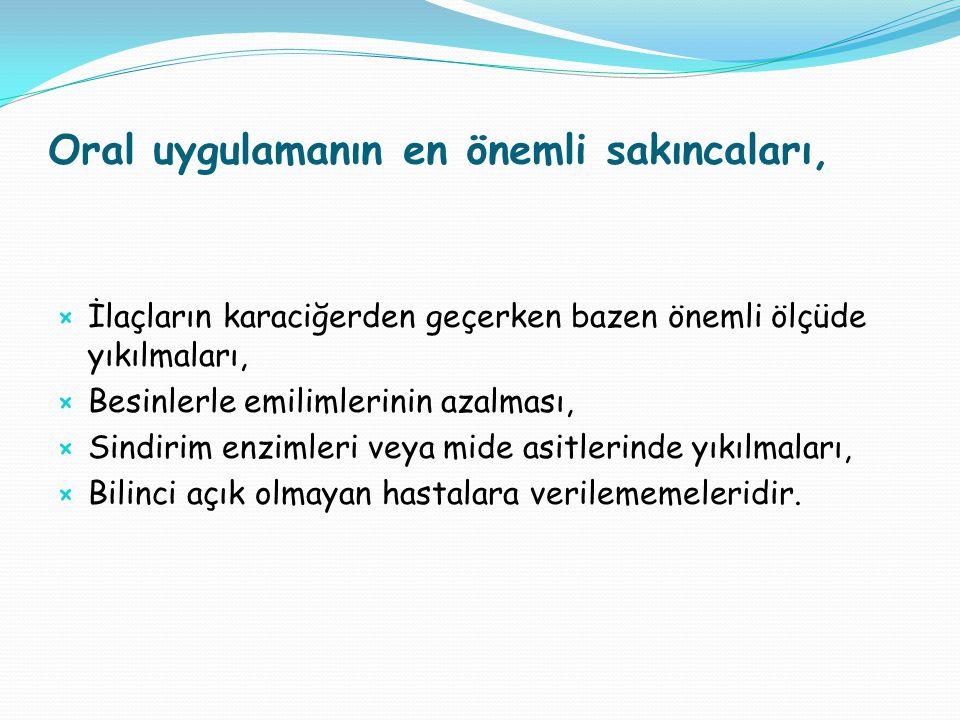 2.PARENTERAL VERİŞ  Damar veya doku içine steril enjektör ile yapılır.