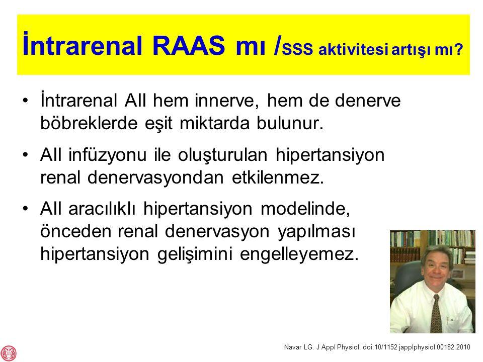 İntrarenal RAAS mı / SSS aktivitesi artışı mı.