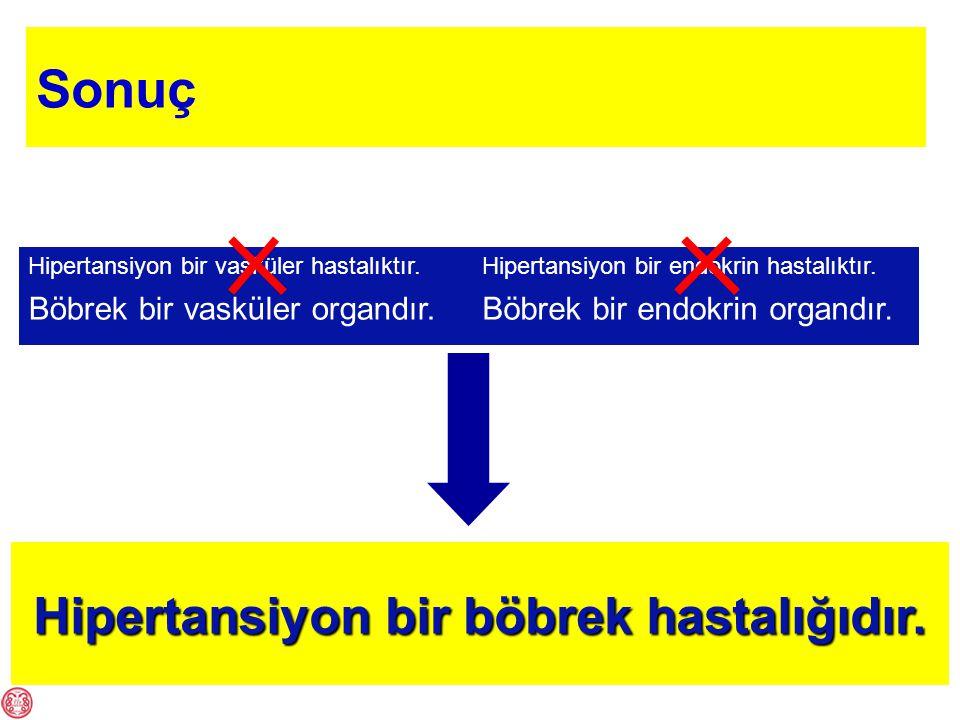 Hipertansiyon bir vasküler hastalıktır.Böbrek bir vasküler organdır.