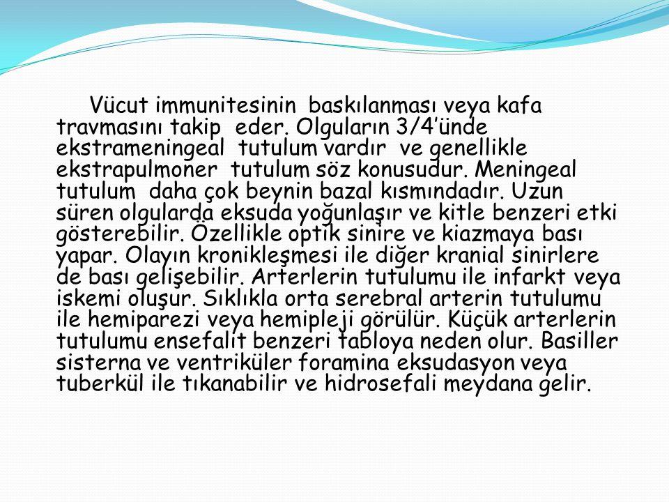 Vücut immunitesinin baskılanması veya kafa travmasını takip eder. Olguların 3/4'ünde ekstrameningeal tutulum vardır ve genellikle ekstrapulmoner tutul