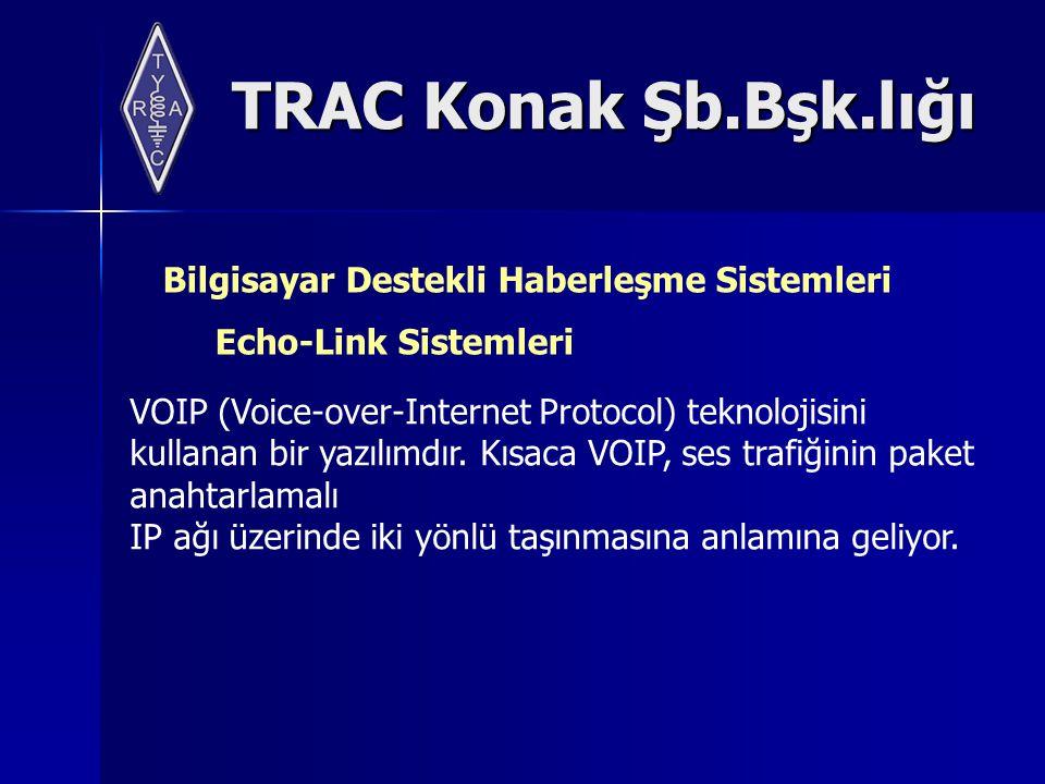 TRAC Konak Şb.Bşk.lığı Bilgisayar Destekli Haberleşme Sistemleri Echo-Link Sistemleri VOIP (Voice-over-Internet Protocol) teknolojisini kullanan bir yazılımdır.