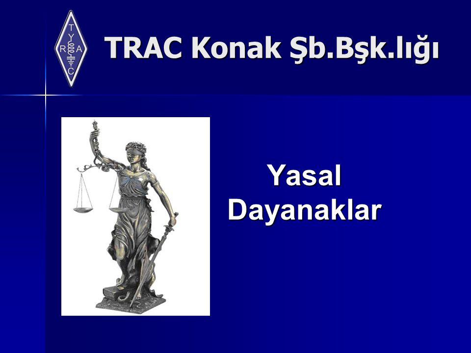 TRAC Konak Şb.Bşk.lığı YasalDayanaklar