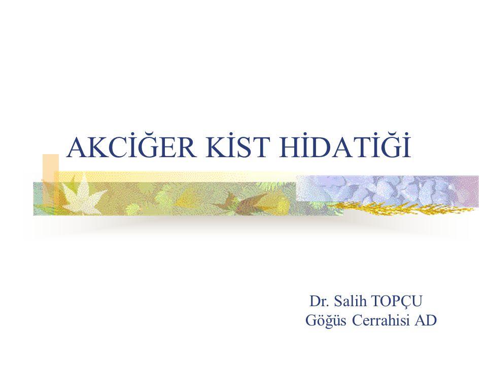 AKCİĞER KİST HİDATİĞİ Dr. Salih TOPÇU Göğüs Cerrahisi AD