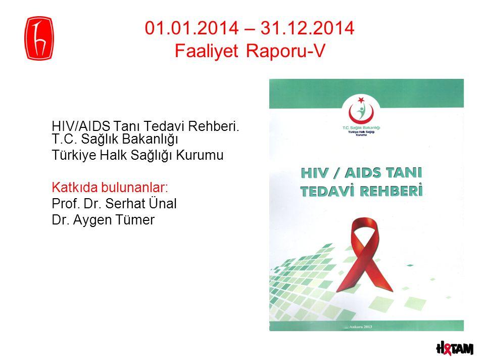 01.01.2014 – 31.12.2014 Faaliyet Raporu-V HIV/AIDS Tanı Tedavi Rehberi. T.C. Sağlık Bakanlığı Türkiye Halk Sağlığı Kurumu Katkıda bulunanlar: Prof. Dr