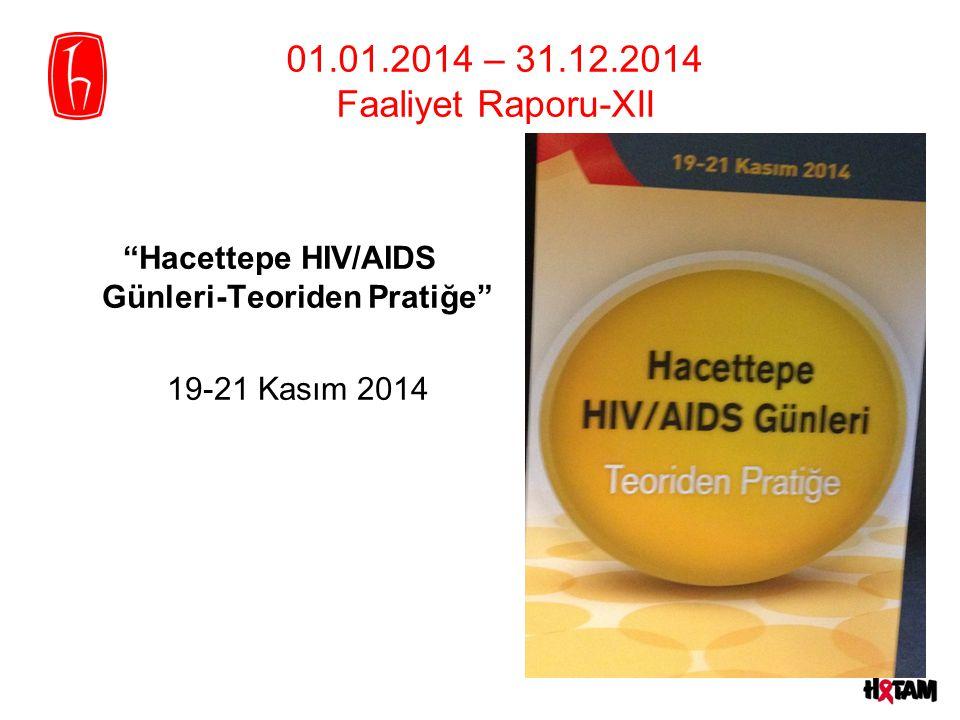 """01.01.2014 – 31.12.2014 Faaliyet Raporu-XII """"Hacettepe HIV/AIDS Günleri-Teoriden Pratiğe"""" 19-21 Kasım 2014"""