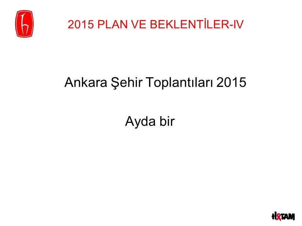 2015 PLAN VE BEKLENTİLER-IV Ankara Şehir Toplantıları 2015 Ayda bir