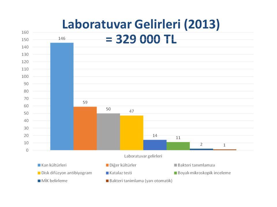 Laboratuvar Gelirleri (2013) = 329 000 TL