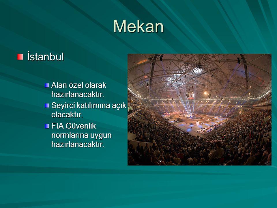 Mekan İstanbul Alan özel olarak hazırlanacaktır. Seyirci katılımına açık olacaktır.