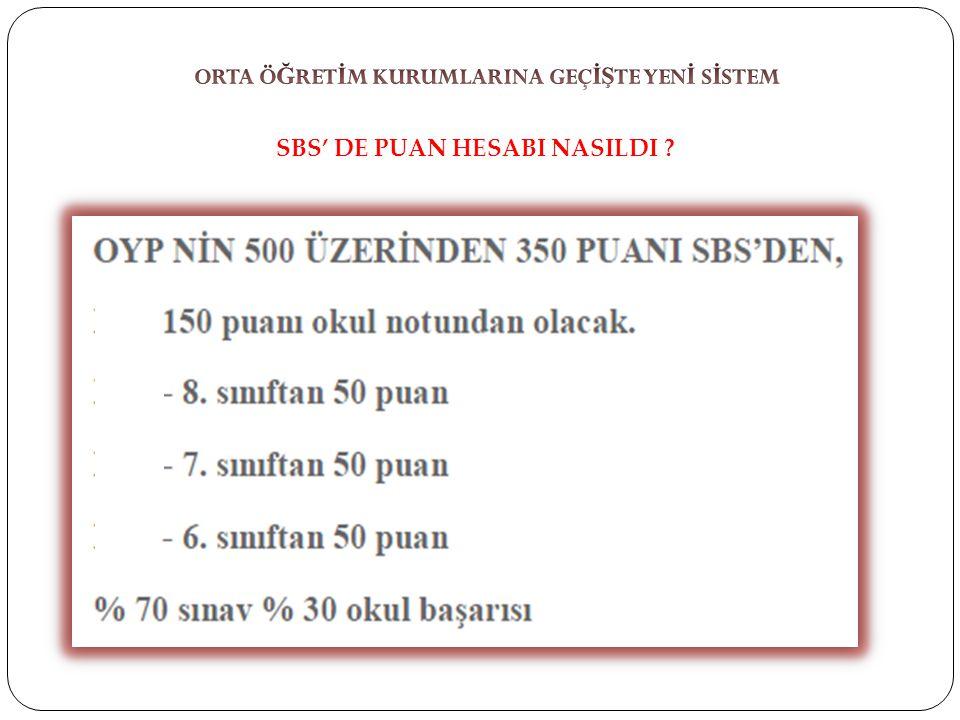 SBS' DE PUAN HESABI NASILDI ?