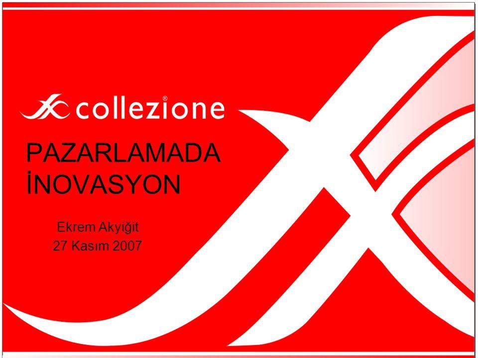 PAZARLAMADA İNOVASYON Ekrem Akyiğit 27 Kasım 2007