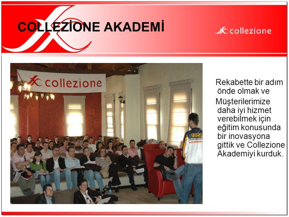 COLLEZİONE AKADEMİ Rekabette bir adım önde olmak ve Müşterilerimize daha iyi hizmet verebilmek için eğitim konusunda bir inovasyona gittik ve Collezio
