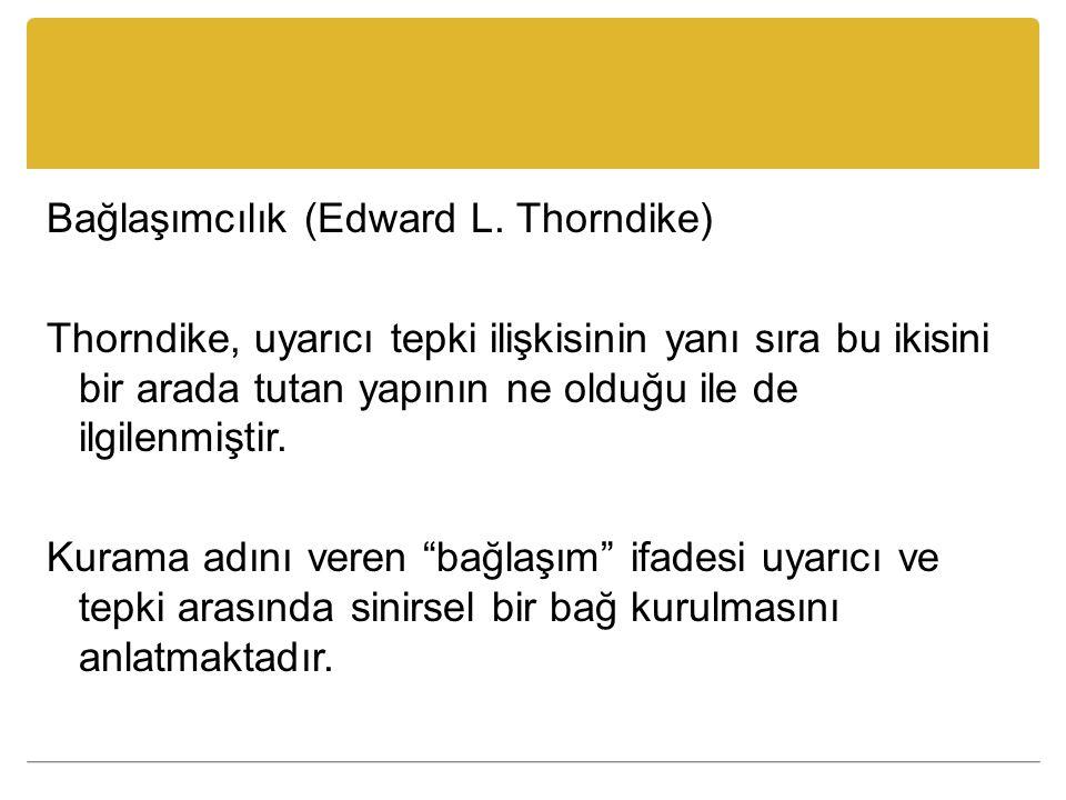 Bağlaşımcılık (Edward L.