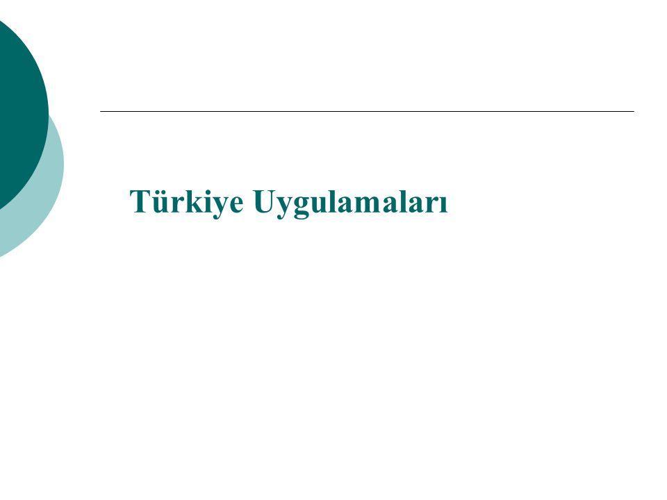 Türkiye Uygulamaları