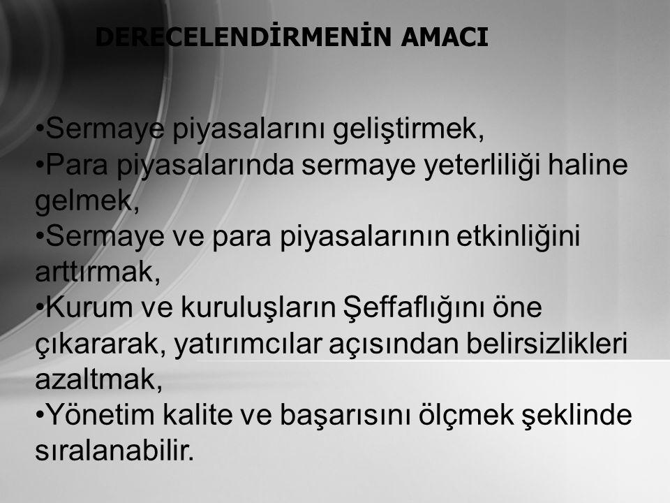 KREDİ DERECELENDİRME SİSTEMİ'NİN İŞLEYİŞİ 5.