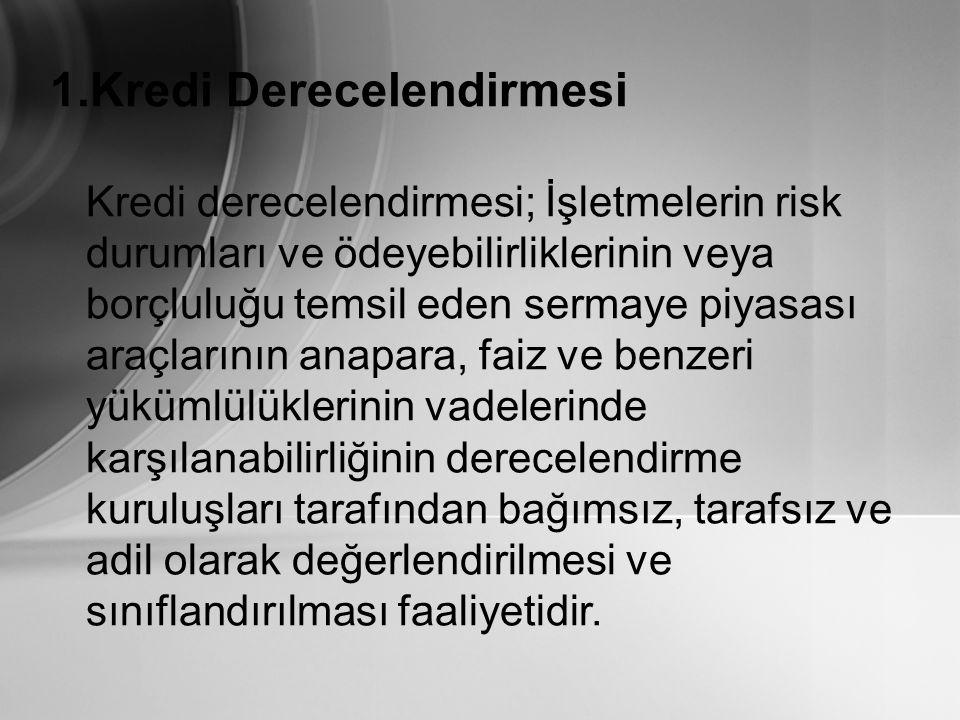 RATING'in (DERECELENDİRMENİN) FAYDALARI 1.