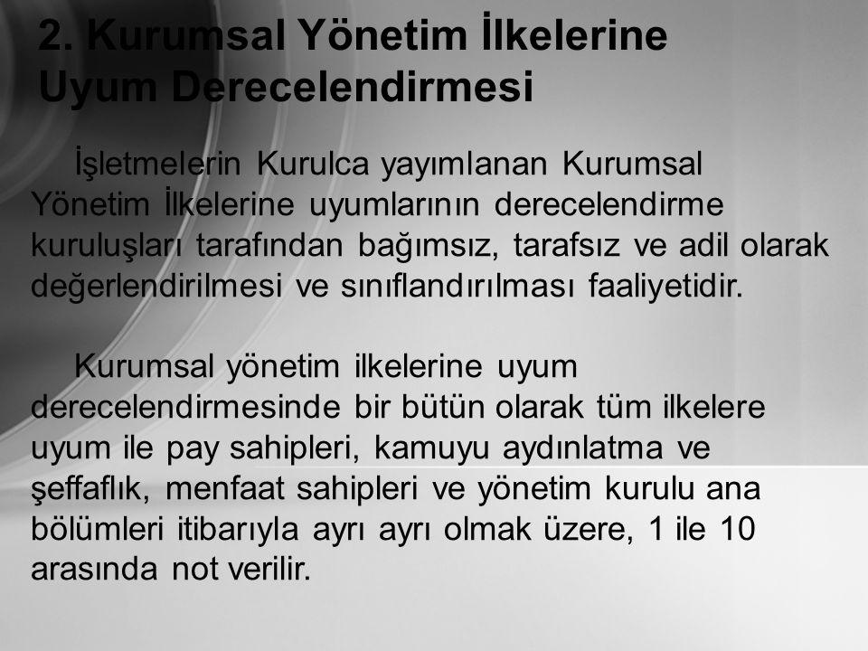 RATING'in (DERECELENDİRMENİN) FAYDALARI 2.