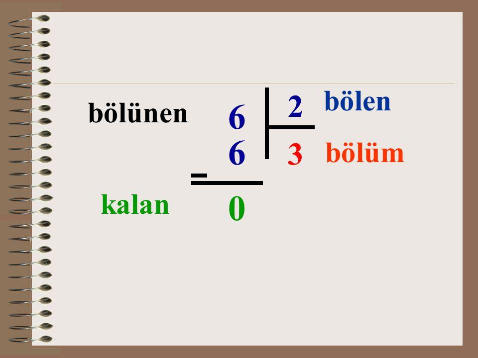 Bölme İşlemi Çıkarmanın kısa yoludur. Bir çokluğu eşit olarak paylaştırmadır. Bir sayıda o sayının kaç defa bulunduğunu anlamak için yapılır.