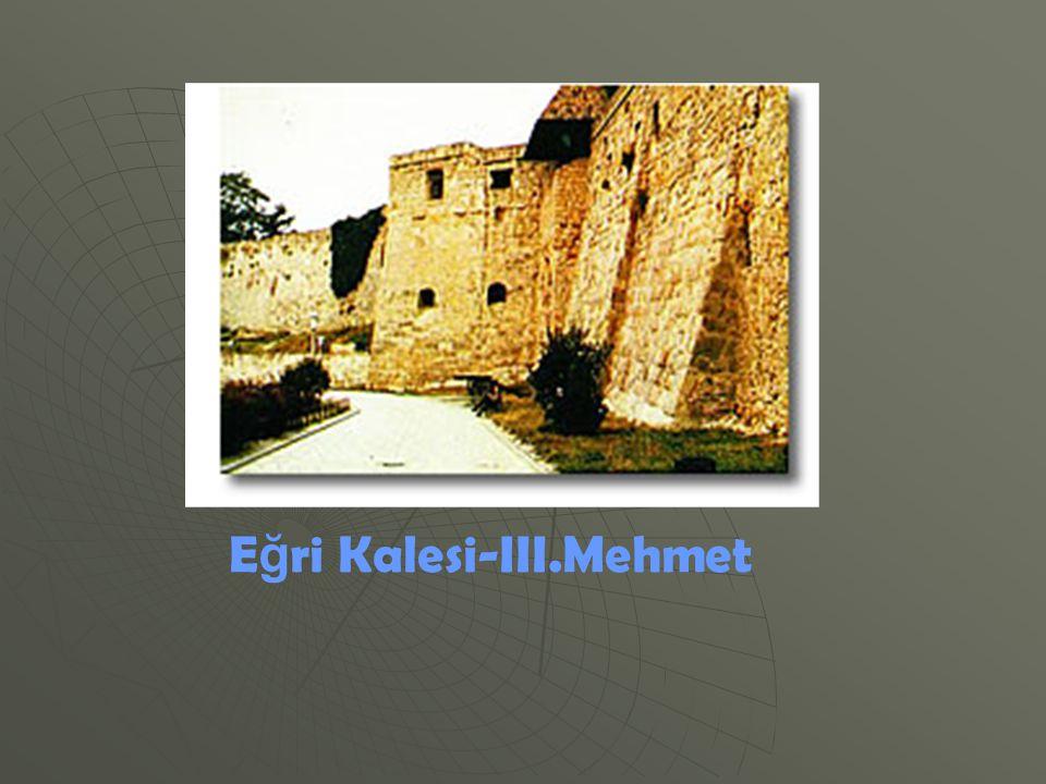 E ğ ri Kalesi-III.Mehmet
