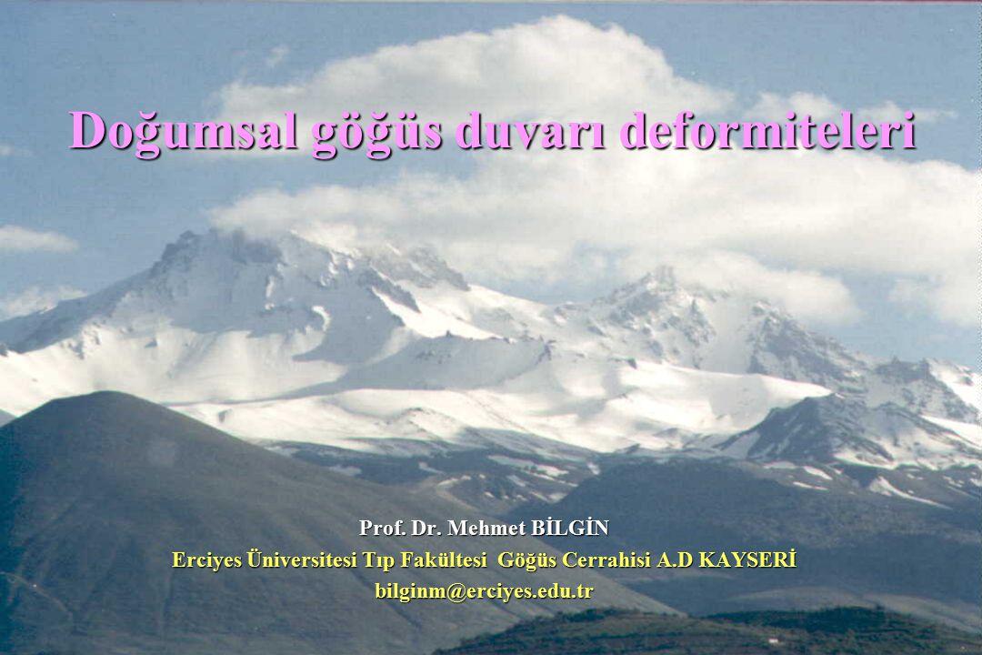 Doğumsal göğüs duvarı deformiteleri Prof.Dr.