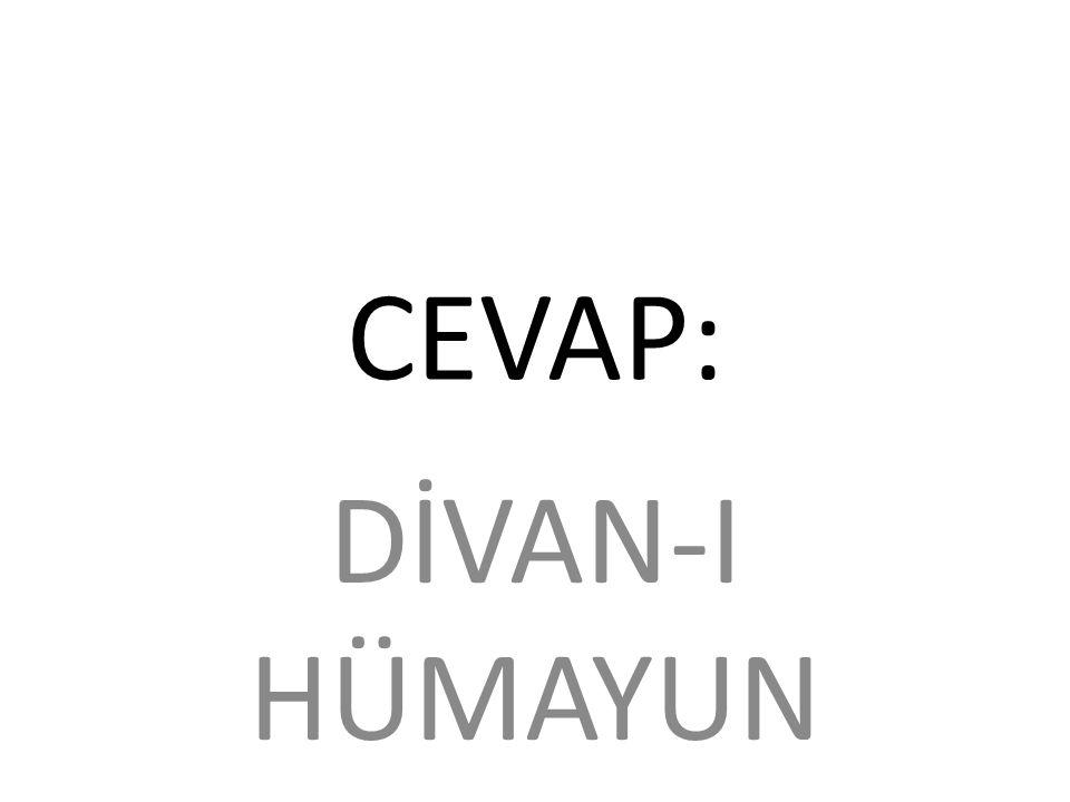 CEVAP: DİVAN-I HÜMAYUN