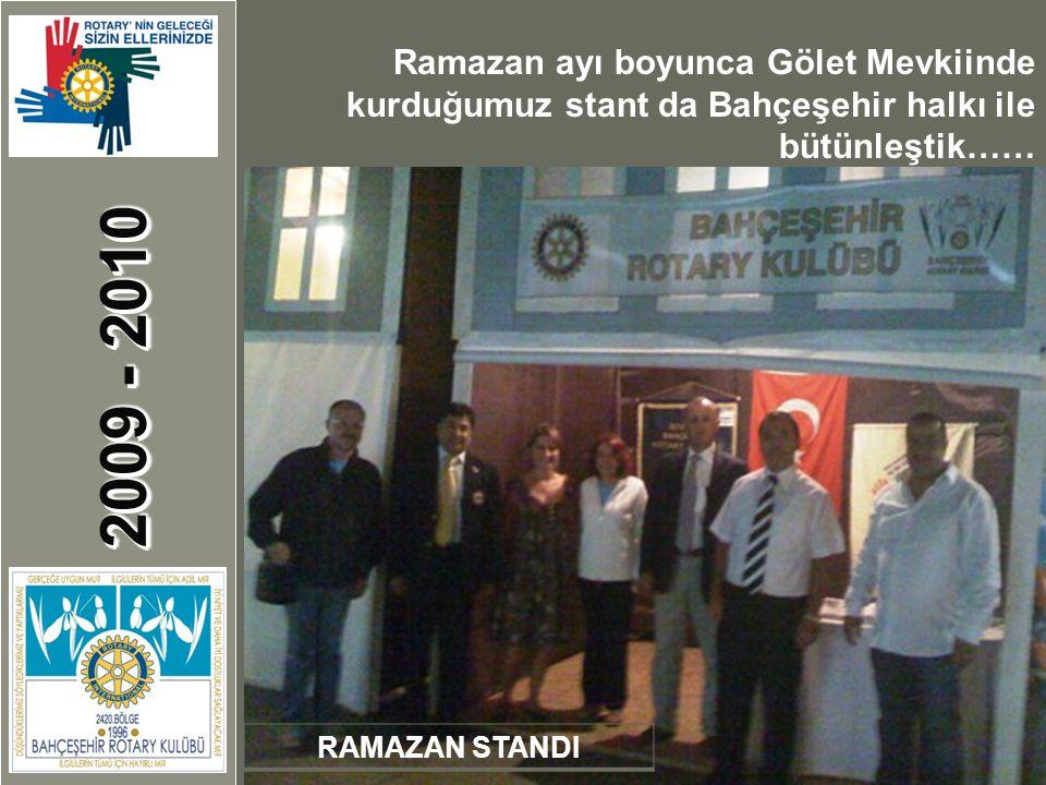 2009 - 2010 RAMAZAN STANDI Ramazan ayı boyunca Gölet Mevkiinde kurduğumuz stant da Bahçeşehir halkı ile bütünleştik……