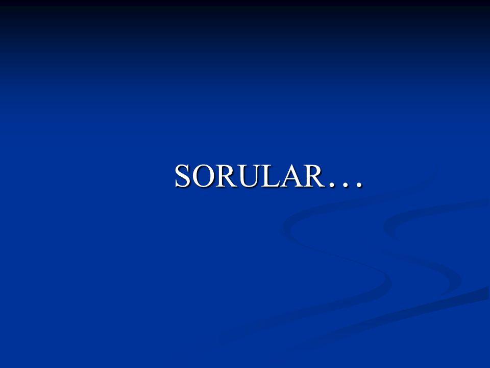 SORULAR … SORULAR …