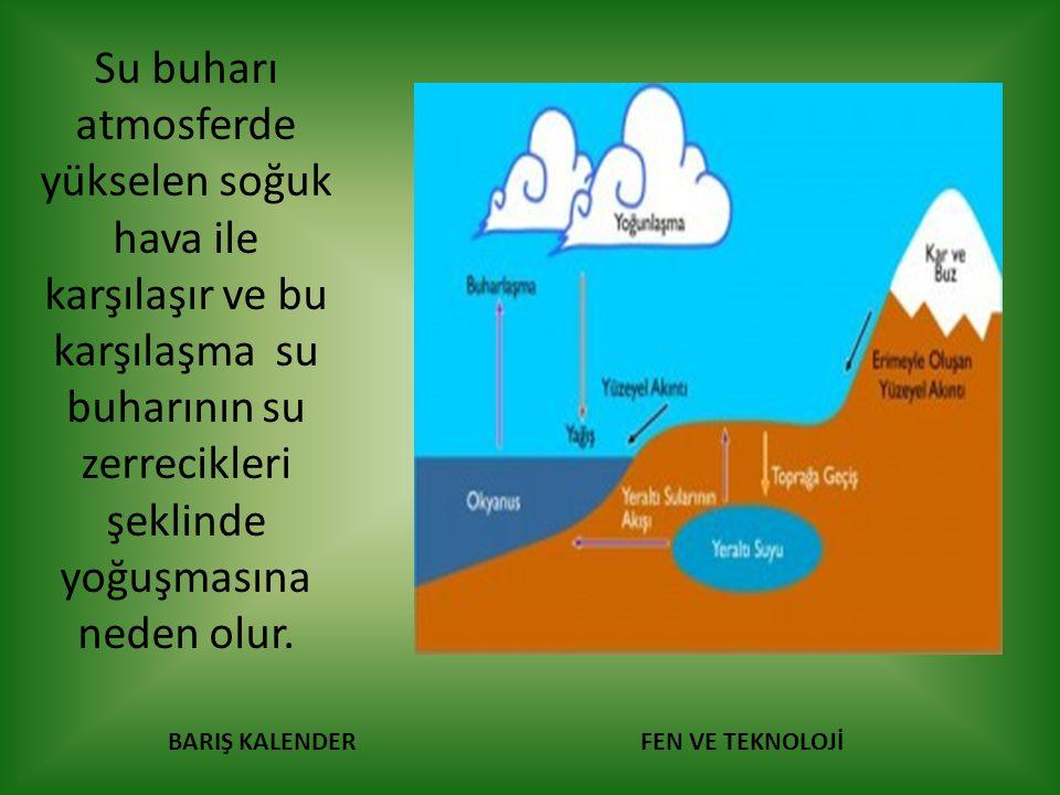 BARIŞ KALENDERFEN VE TEKNOLOJİ Yoğuşma sonucu bulut meydana gelir.