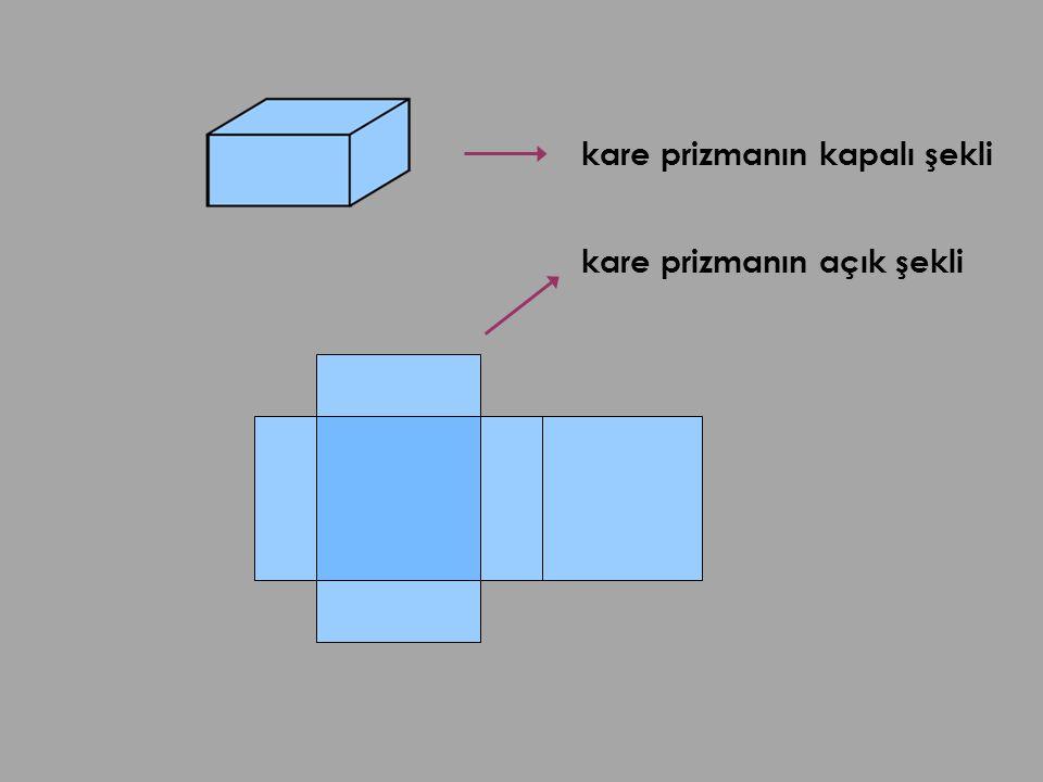 kare prizmanın kapalı şekli kare prizmanın açık şekli