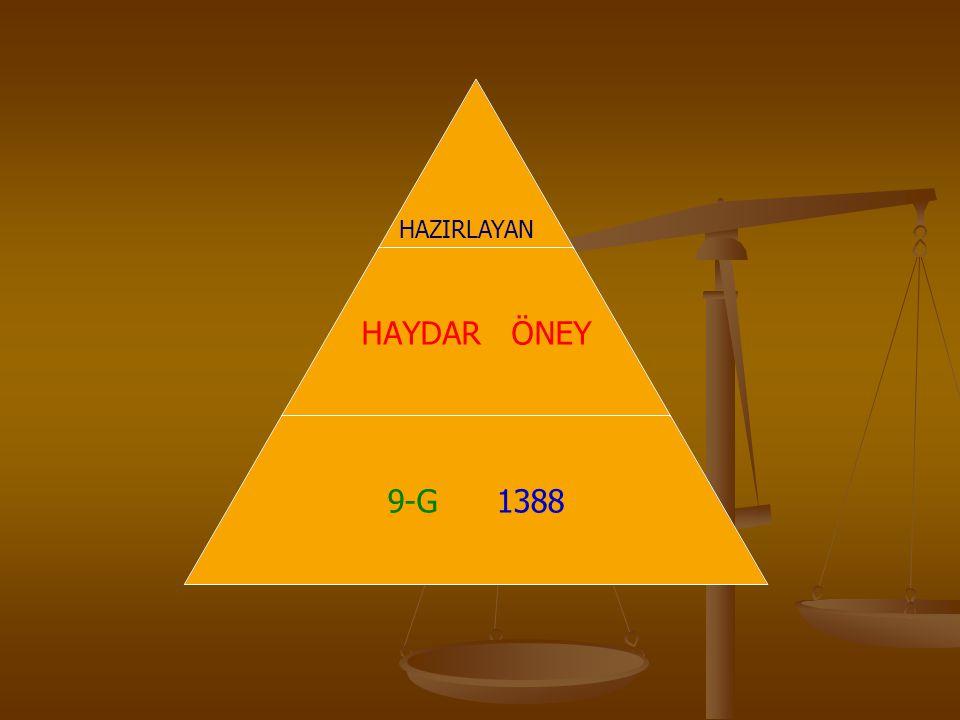 HAYDAR ÖNEY 9-G 1388 HAZIRLAYAN