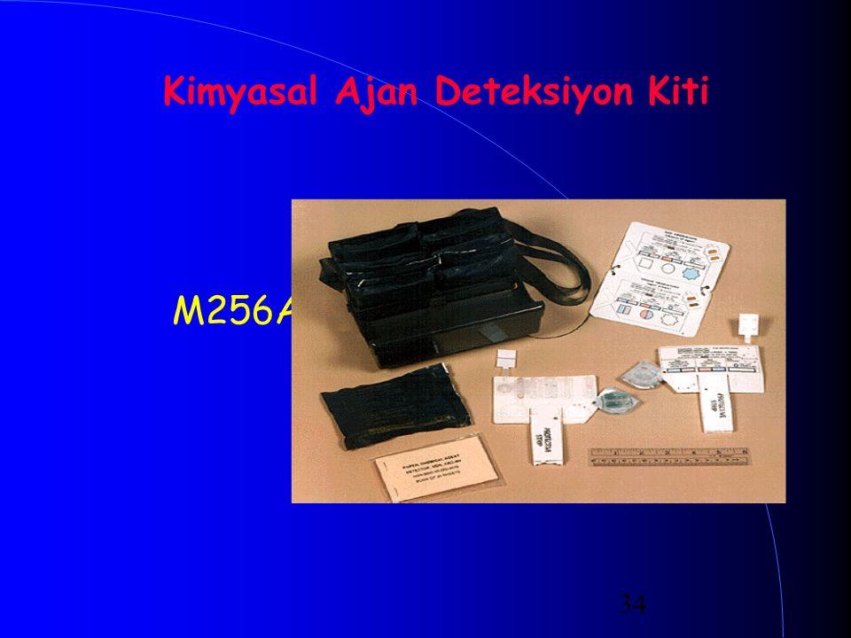 34 Kimyasal Ajan Deteksiyon Kiti M256A1