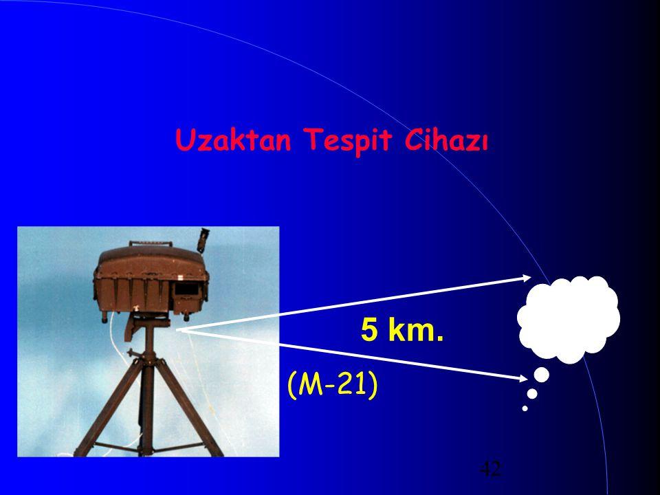 42 Uzaktan Tespit Cihazı (M-21) 5 km.
