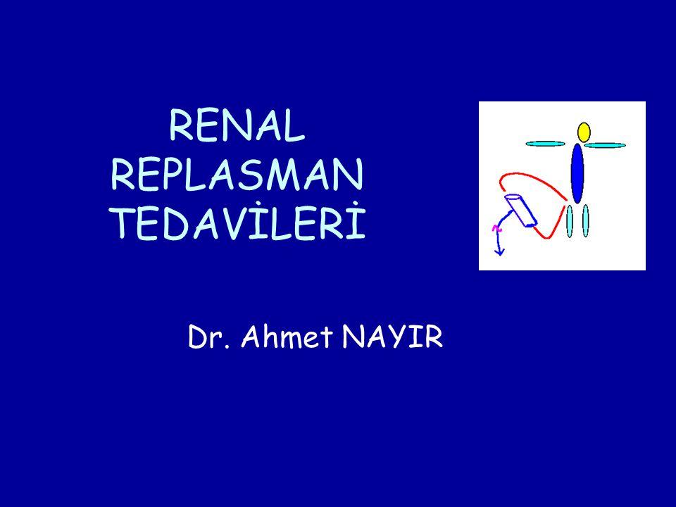 RENAL REPLASMAN TEDAVİLERİ Dr. Ahmet NAYIR