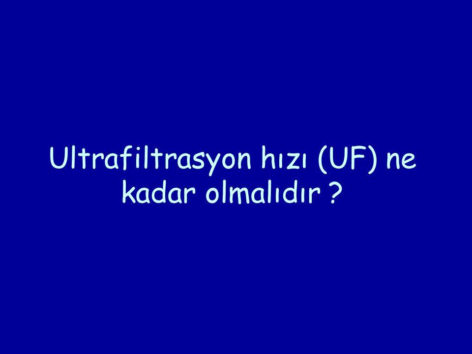 Ultrafiltrasyon hızı (UF) ne kadar olmalıdır ?