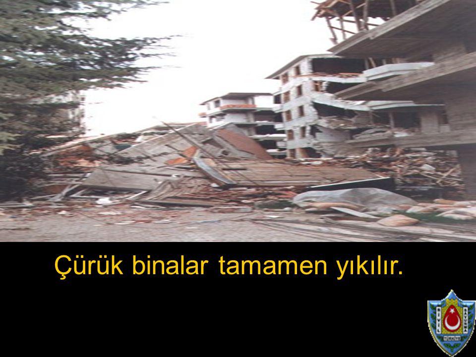 Çürük binalar tamamen yıkılır.