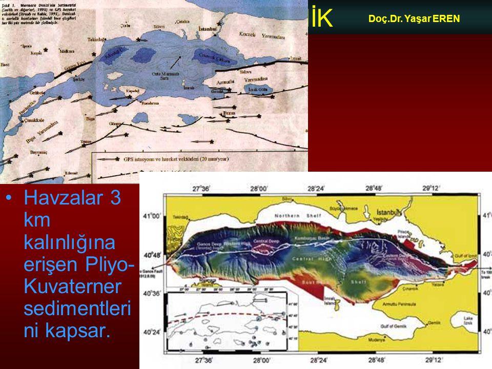 NEOTEKTONİK Doç.Dr. Yaşar EREN Havzalar 3 km kalınlığına erişen Pliyo- Kuvaterner sedimentleri ni kapsar.