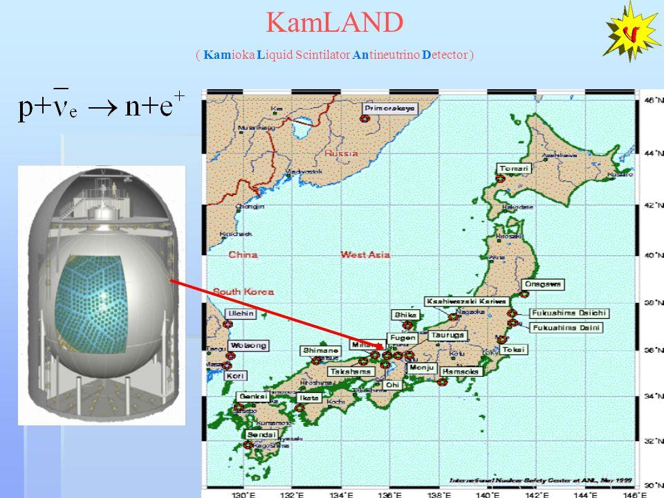 KamLAND ( Kamioka Liquid Scintilator Antineutrino Detector )