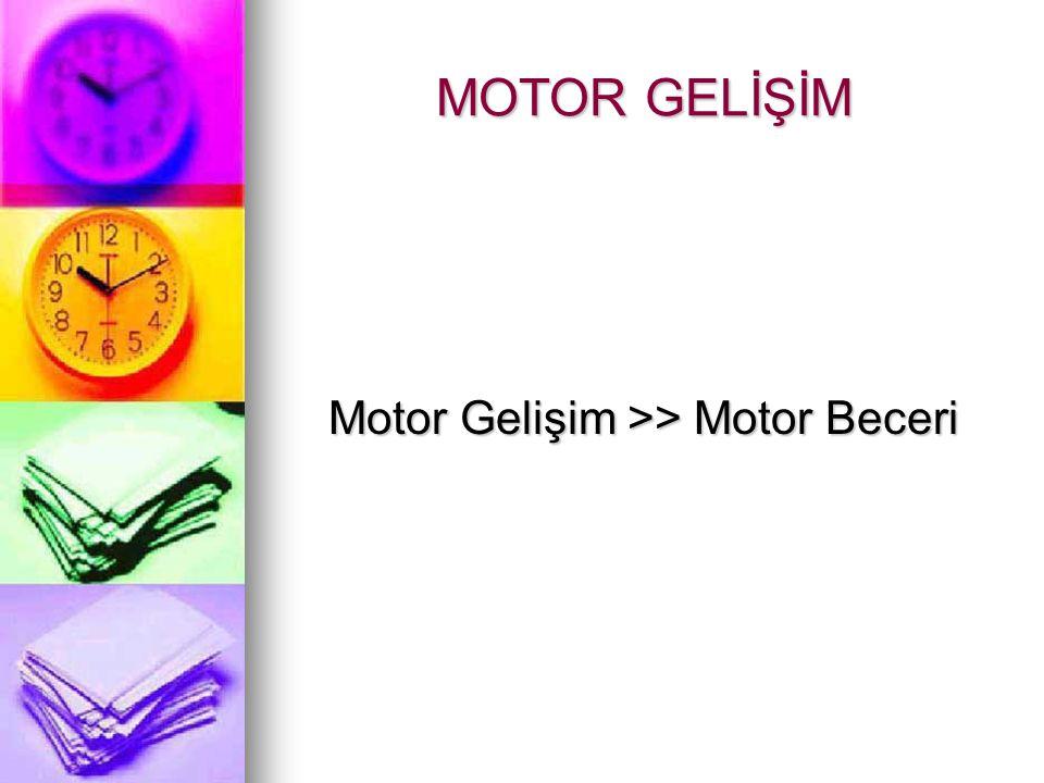 MOTOR GELİŞİM Motor Gelişim >> Motor Beceri