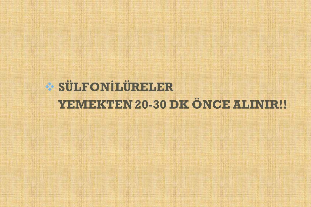  SÜLFON İ LÜRELER YEMEKTEN 20-30 DK ÖNCE ALINIR!!