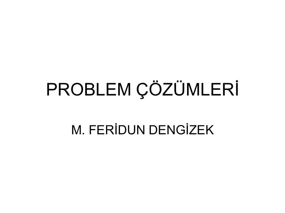 PROBLEM ÇÖZÜMLERİ M. FERİDUN DENGİZEK