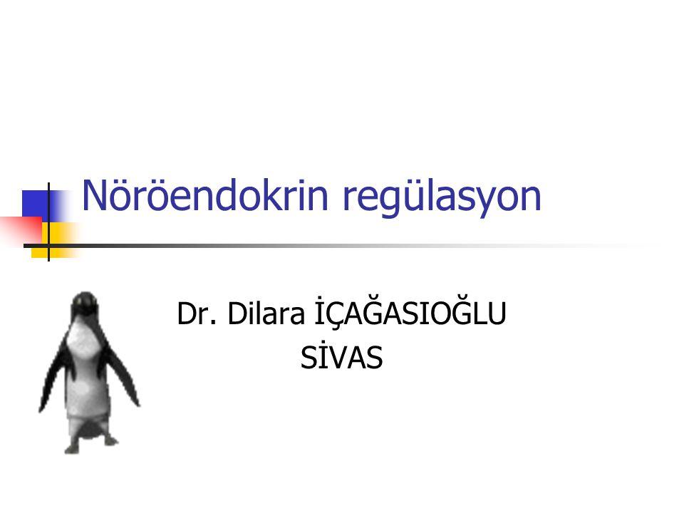 Nöröendokrin regülasyon Dr. Dilara İÇAĞASIOĞLU SİVAS