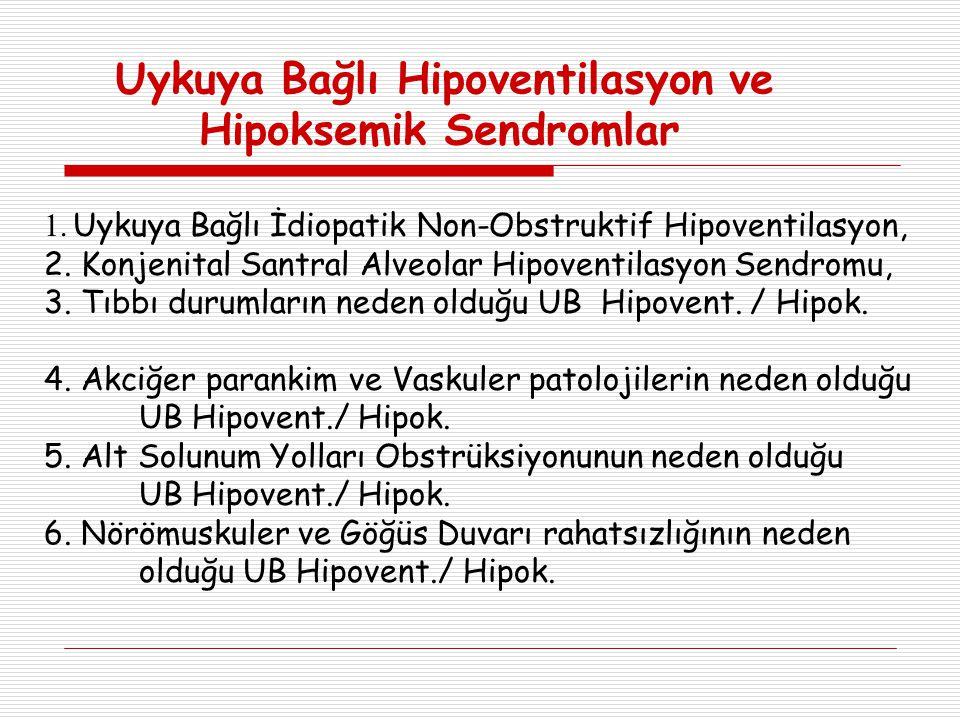Uykuya Bağlı Hipoventilasyon ve Hipoksemik Sendromlar 1.