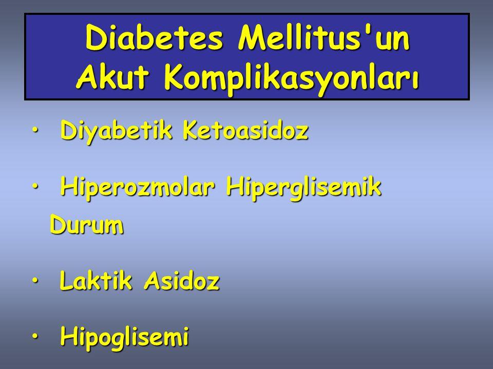 Diyabetik Ketoasidoz (DKA) ve Hiperozmolar Hiperglisemik Durum (HHD) DKA ve HHD, insülin eksikliği ve ağır hiperglisemi sonucu ortaya çıkan, patogenez ve tedavisi büyük ölçüde benzeşen, iki önemli metabolik bozukluktur.DKA ve HHD, insülin eksikliği ve ağır hiperglisemi sonucu ortaya çıkan, patogenez ve tedavisi büyük ölçüde benzeşen, iki önemli metabolik bozukluktur.