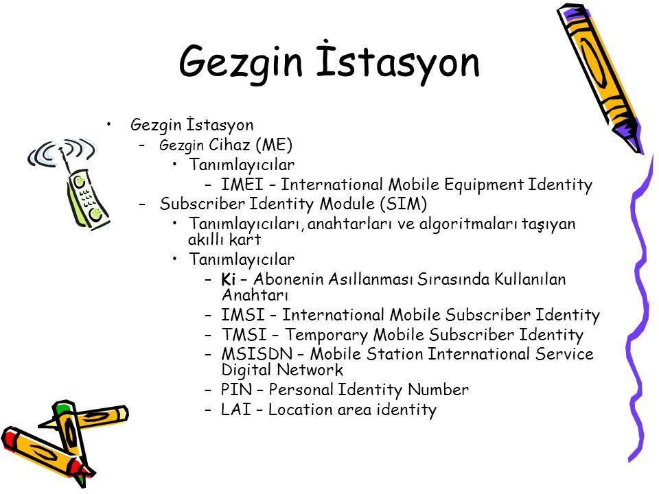 GSM Güvenliği Özellikleri Anahtar yönetimi cihazdan bağımsız –Aboneler cihazlarını diledikleri gibi değiştirebilirler Abonenin kimliği korunur –Havada