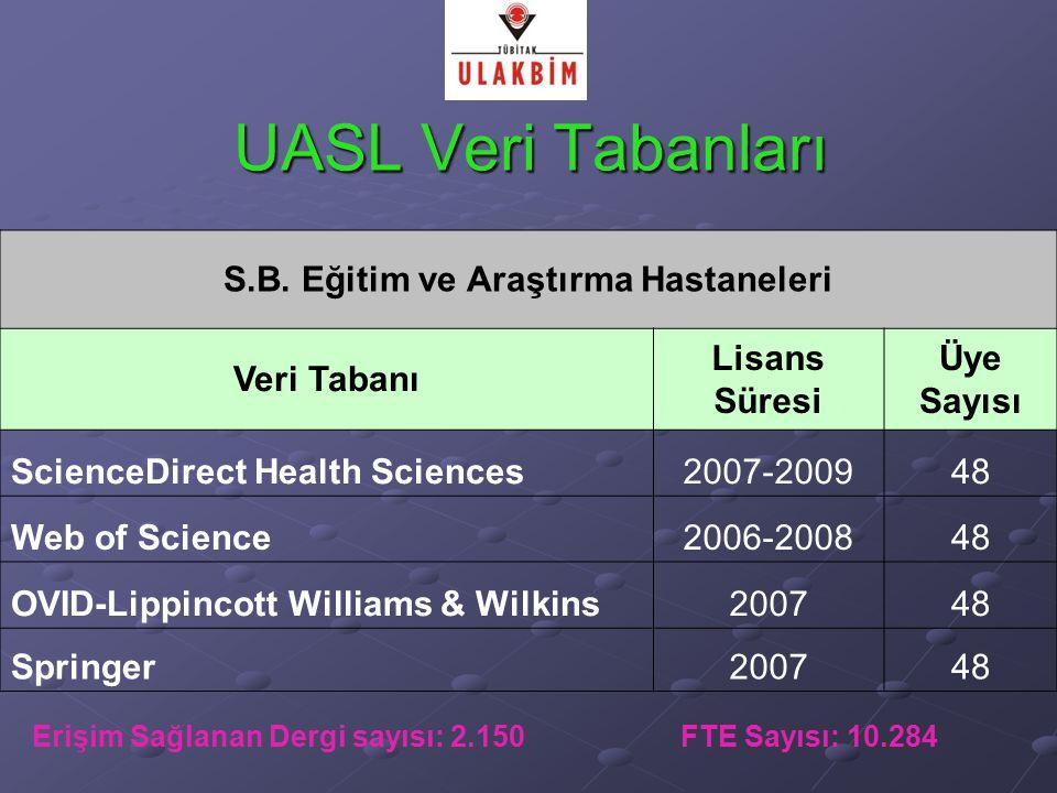 UASL Veri Tabanları S.B.