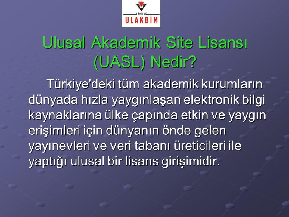 Ulusal Akademik Site Lisansı (UASL) Nedir.